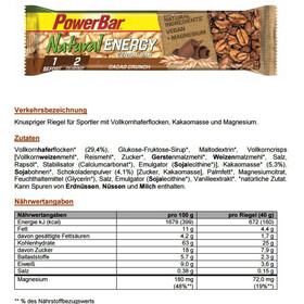 PowerBar Natural Energy Cereal Bar Box 24x40g, Cacao-Crunch